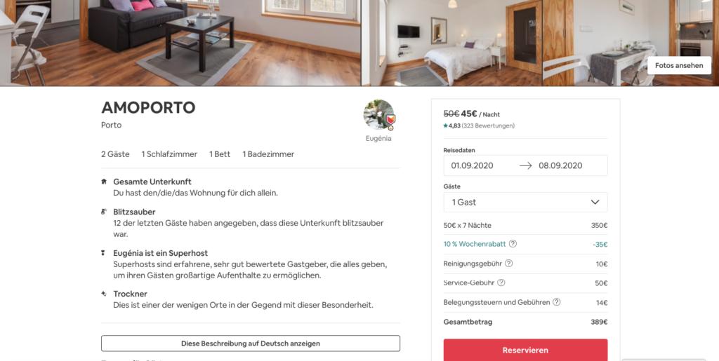 Airbnb, Unterkunft weltweit, Wohnungen