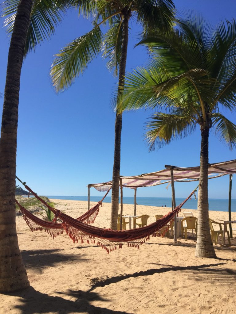 Brasilien Urlaub an der Entdecker-Küste Bahia in Arraial da Ajuda 7 Lagao Beach Marc