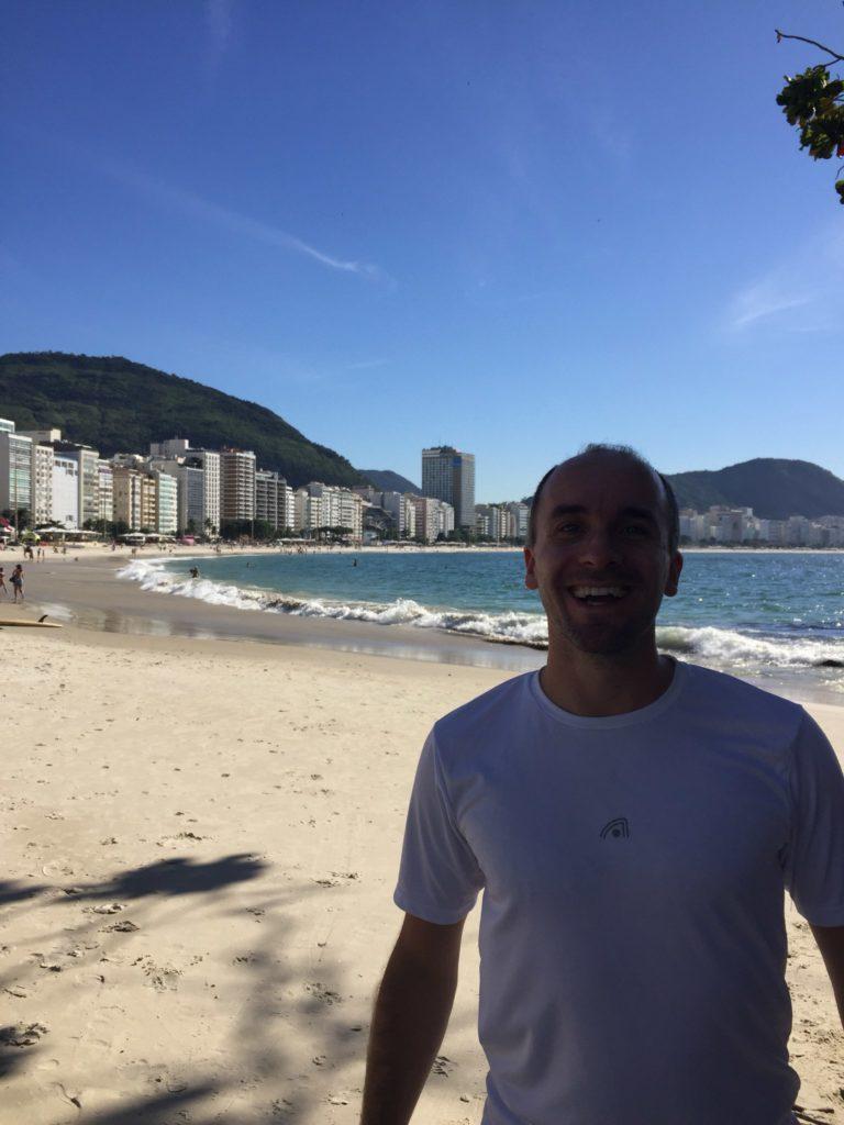 Copacabana  Rennen Laufen  Rio de Janeiro