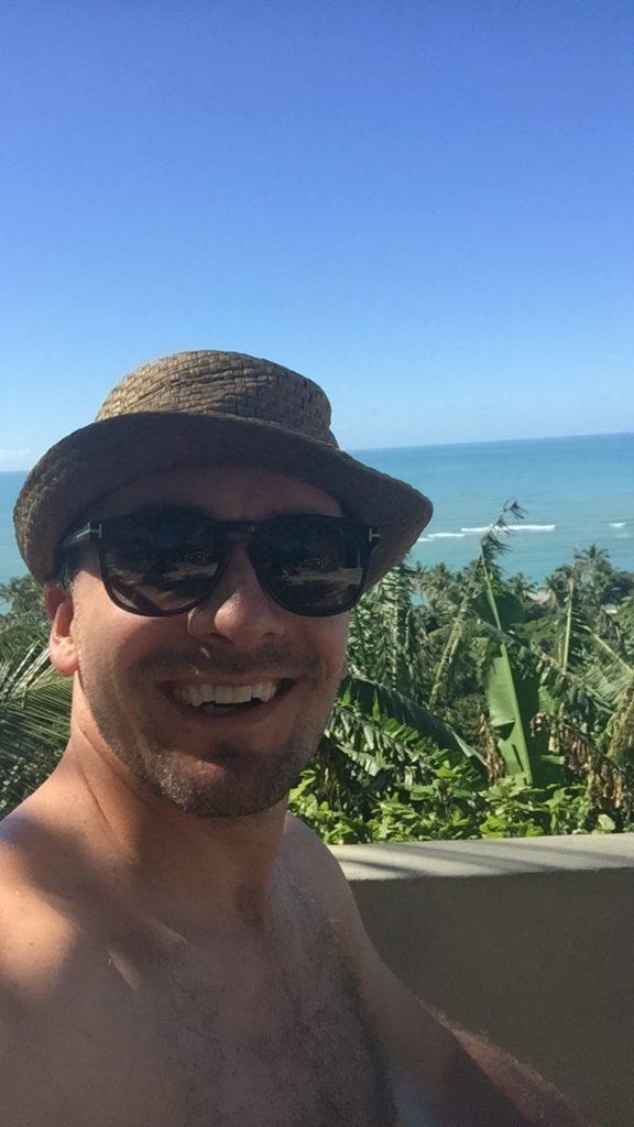 Brasilien Urlaub an der Entdecker-Küste Bahia in Arraial da Ajuda 3 ich selber