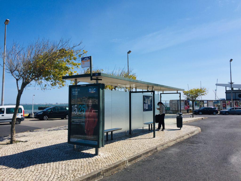 Öffentliche Verkehrsmittel  Costa da Caparica Lissabon