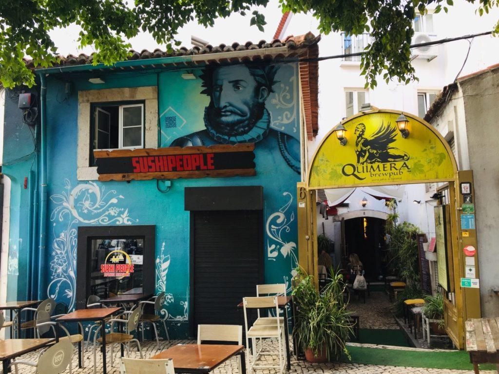 Estrela und Lapa - Leben in Lissabon 22 Pub Lissabon
