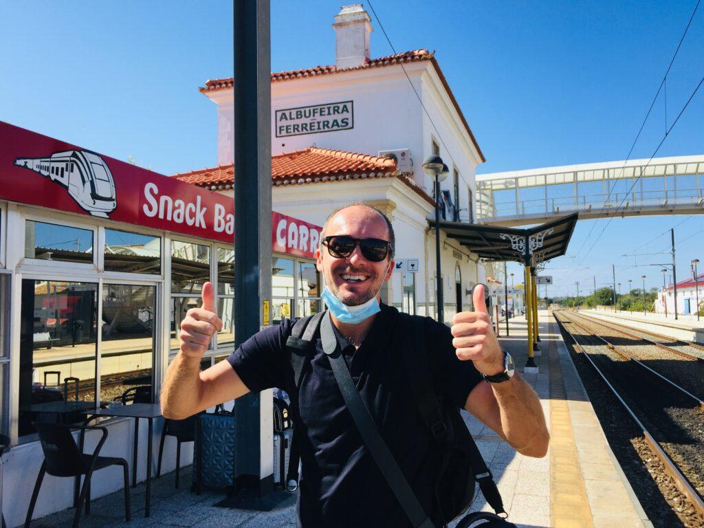 Von Lissabon an die Algarve mit dem Zug - Reisen in Portugal 6 Albufeira Bahnhof